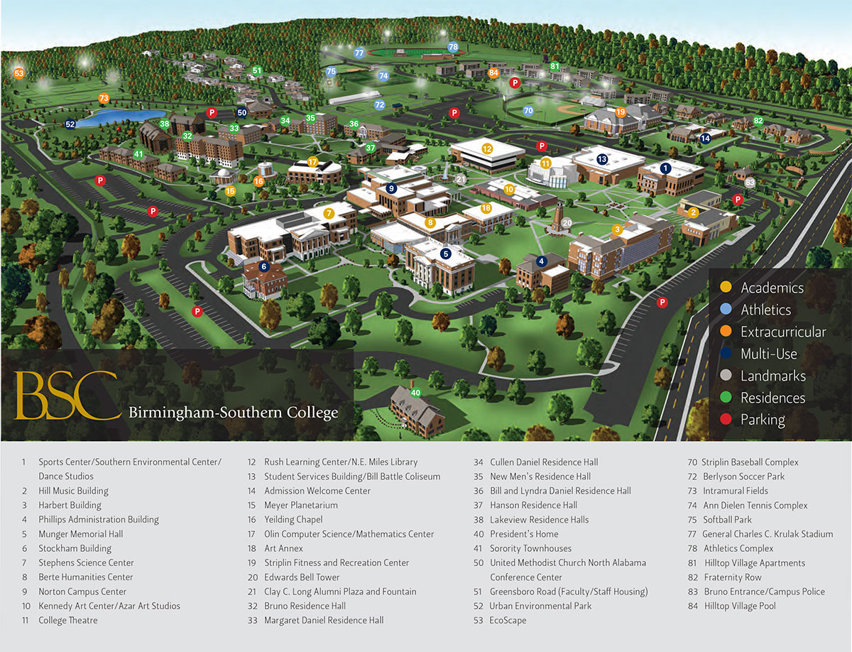 BSC Campus Map