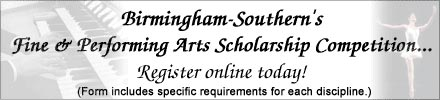 Fine & Performing Arts Scholarship Banner