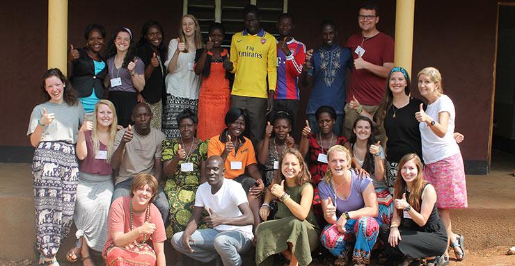 Student teaching in Uganda