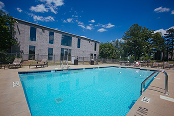 The Hilltop Village Apartments pool